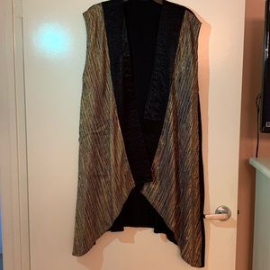 Handmade long vest with pockets One Size